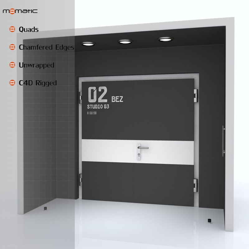 3d model of hall door