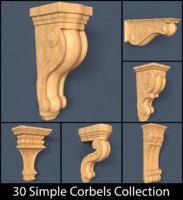 3d corbels model
