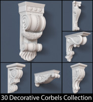 30 Decorative Corbels Collection