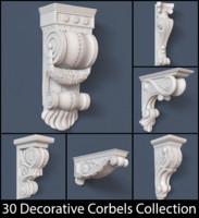 30 corbels 3d model
