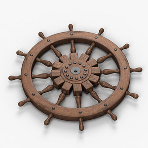 boat steering wheel 3d max