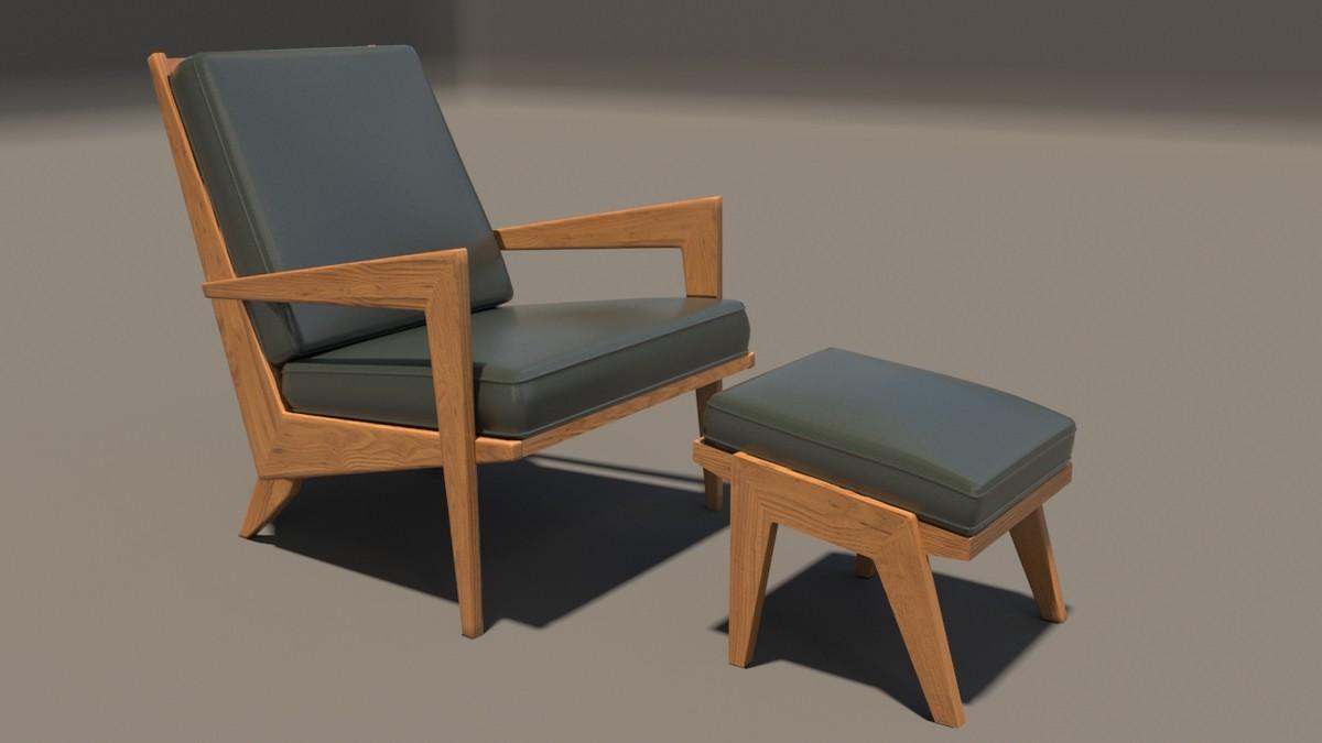 leather armchair drexel 3d max