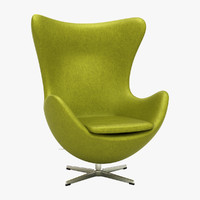 3d arne jacobson egg chair model