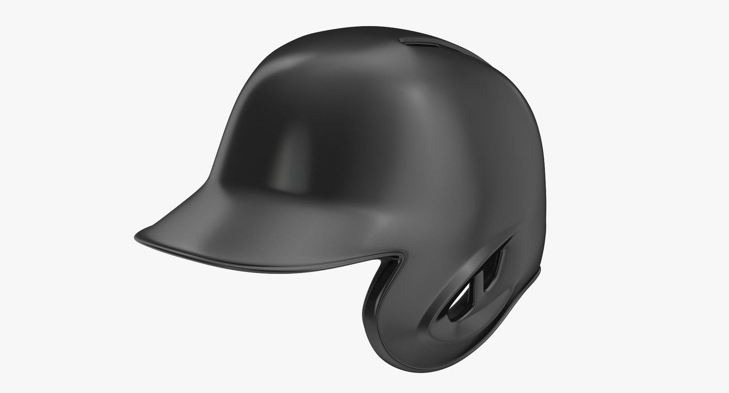 baseball helmet black generic 3d model