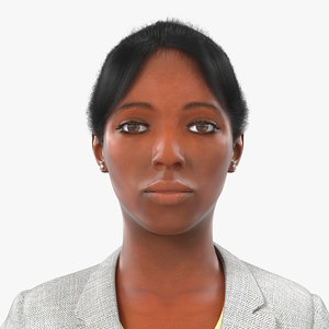 3d business woman african american