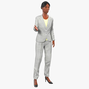 business woman african american 3d model