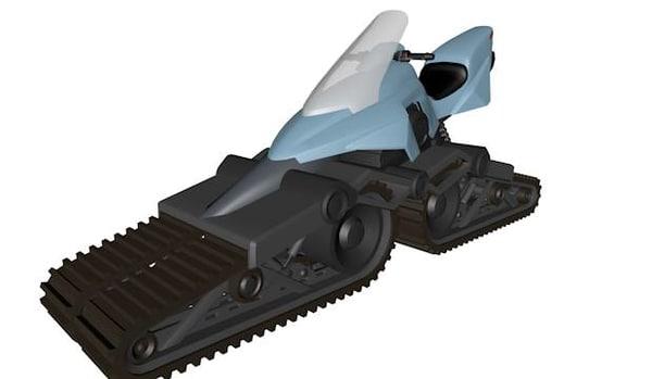 3d futuristic snowmobile ski-doo model