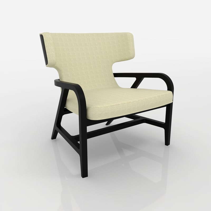 Realistic poltrona fulgens chair 3d max for Poltrona 3d