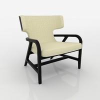realistic poltrona fulgens chair 3d max