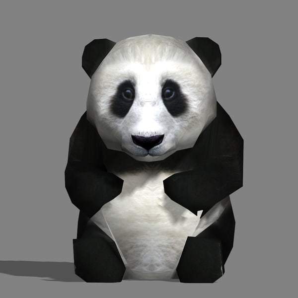 adorable panda baby 3d 3ds
