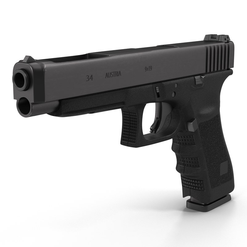 3ds max generic competition pistol black