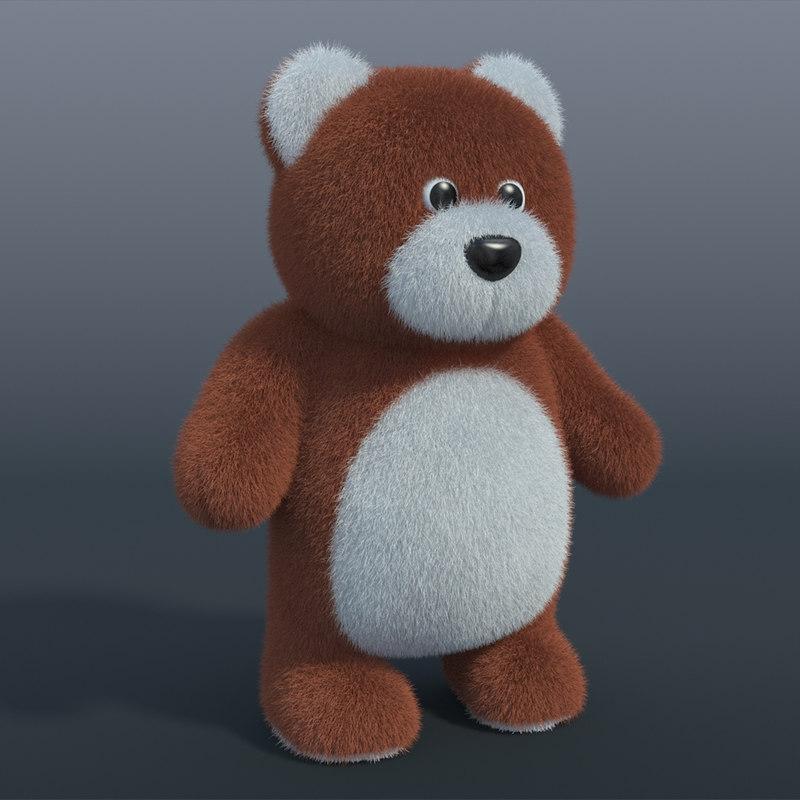 3ds max realistic teddy bear 02