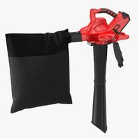 max leaf blower vacuum red