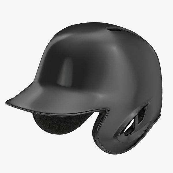 3ds max baseball helmet black sided