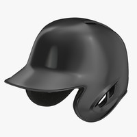 3ds max baseball helmet black sided
