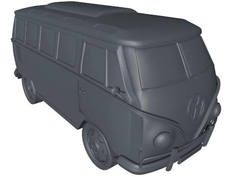 3d model van camper volkswagen