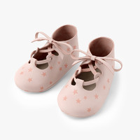 shoes baby bootees 3d obj