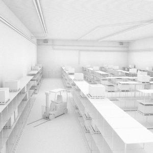 obj scene warehouse factory