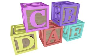 alphabet blocks letters 3d c4d