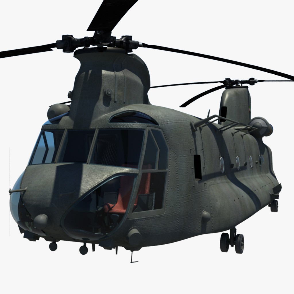 chinook ch 3d model