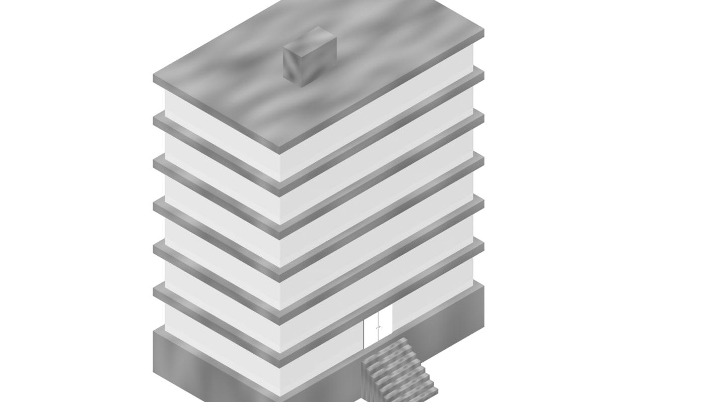 3d simple building model