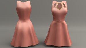 3d model women dress