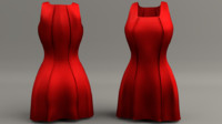 women dress 3d obj
