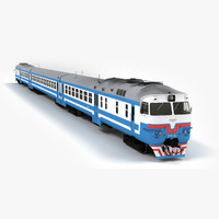 dr1a diesel passenger train 3d model