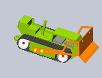 3dsmax buldozer
