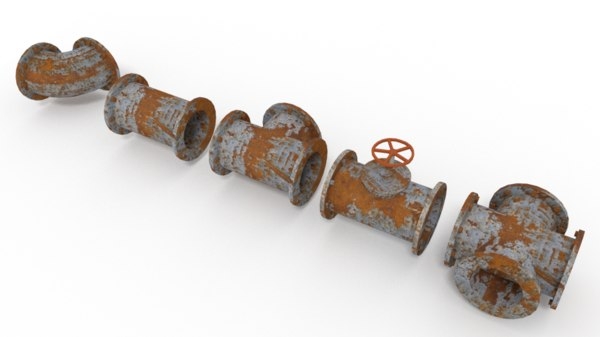 old rusty pipes 3ds