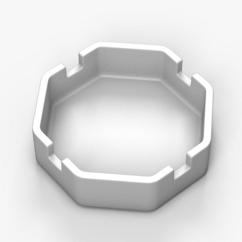 3ds max glass ashtray
