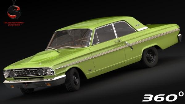 fairlane thunderbolt 1964 3d model