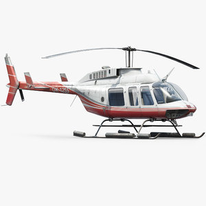 3d helicopter bell model