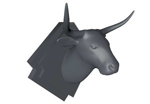 3ds max mounted bull cow head