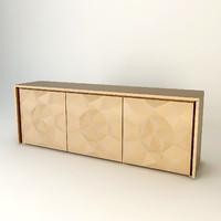 sideboard fendi madia crystal 3d model
