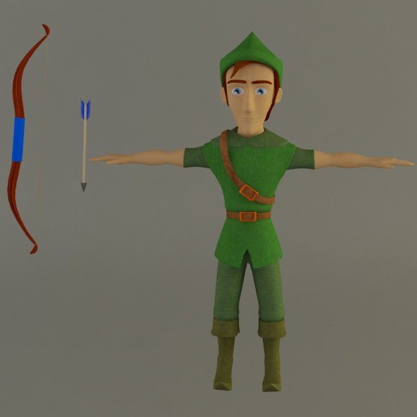 robin character 2013 3d model