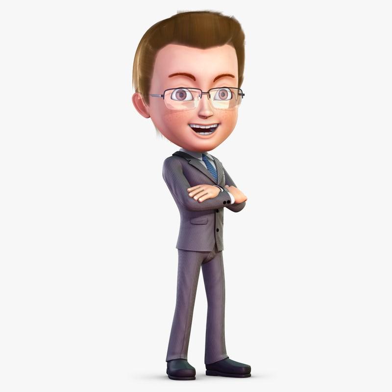 cartoon use character 3d model