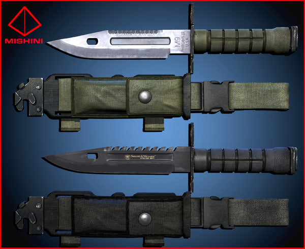 m9 bayonet pack 3d fbx