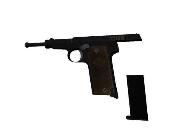 3d model of astra 400 pistol