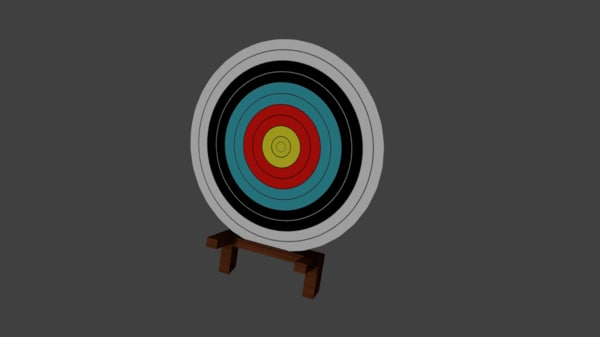 aim archer target fbx