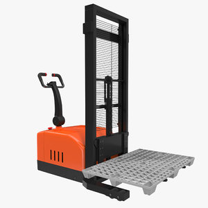 electric walkie stacker plastic 3d max