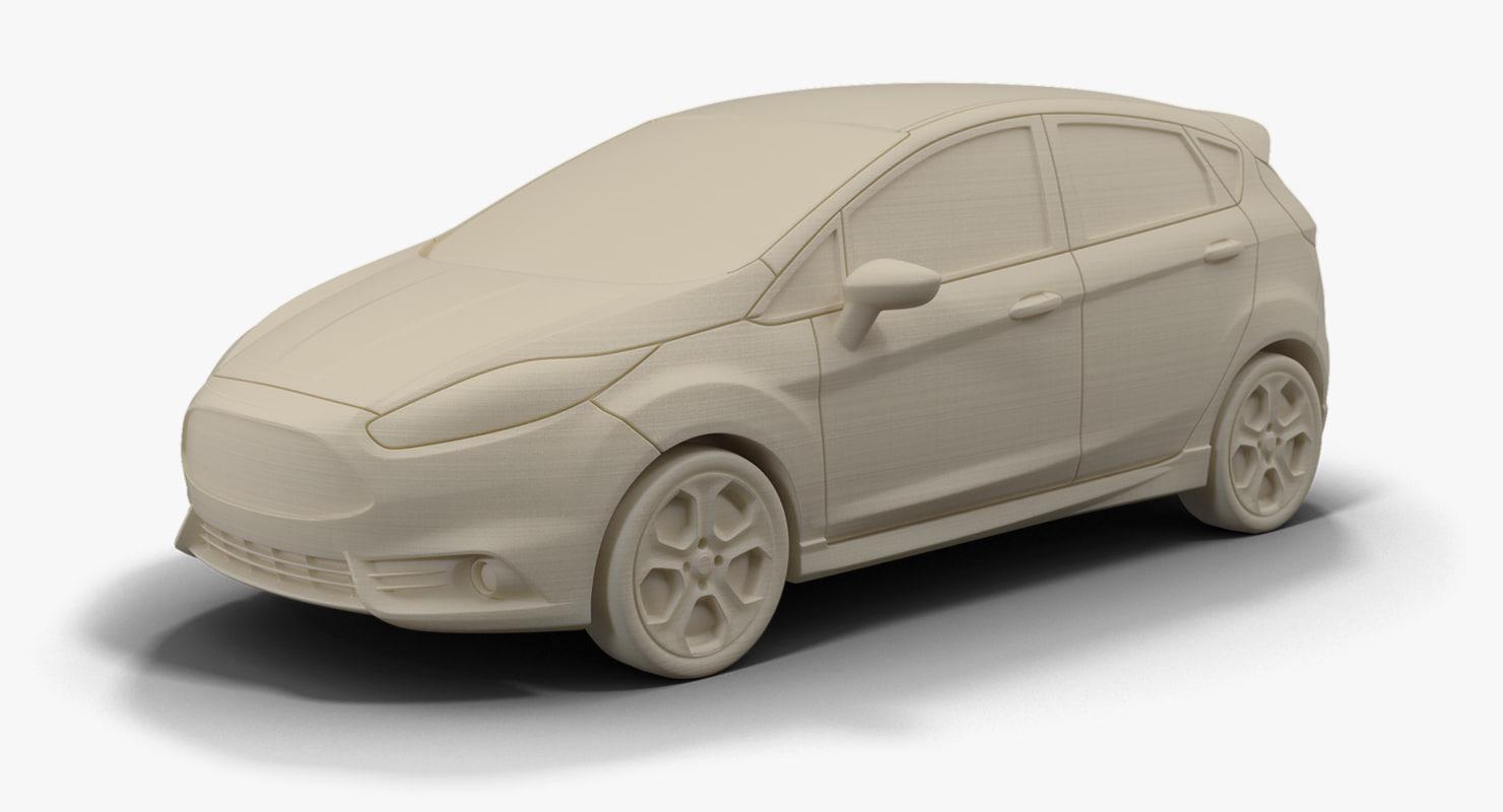 2015 Fiesta St Stl 3d Model Ford