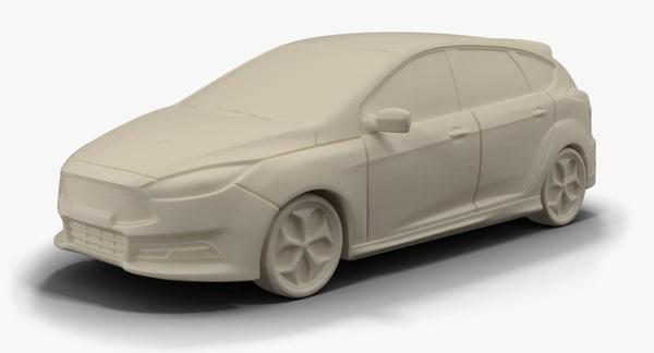 3d 2015 focus st stl model