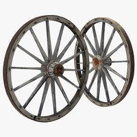 max old wooden wagon wheel