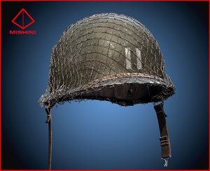 3d model helmet war american