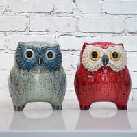 3d owl ceramic model