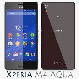 3d model sony xperia m4 aqua