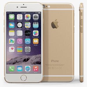 3d apple iphone 6 phone model