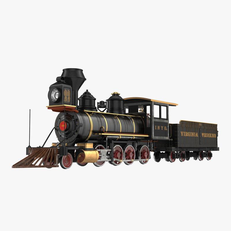 3dsmax steam train wagon 3