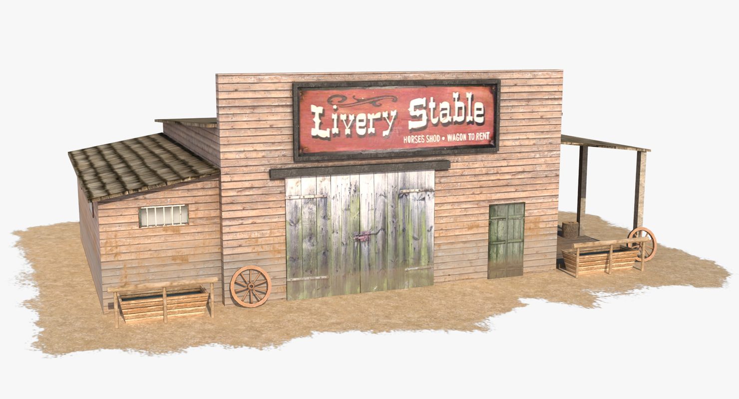 wild west stable house 3d max